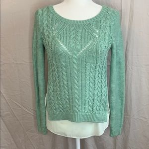 Anthropologie Moth Cable Knit Sweater